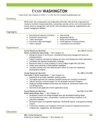 Hr Resume Example by Resume Human Resources Homework Study Hall