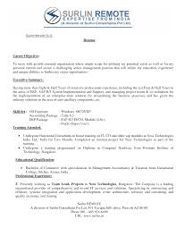 Career Focus Examples For Resume by Best Career Objective In Resume For Freshers Resume For Your Job