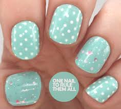 one nail to rule them all gelish ooh la la collection polka dot