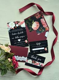 Regency Wedding Invitations Boho Marsala Wedding Invitation Aquarela Stationery Bohemian
