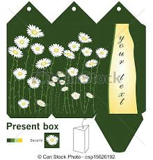 gift box template with daisy eps vectors search clip art