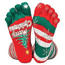 christmas socks tobar christmas stripey toe socks toys