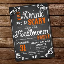 spooky halloween party invitation wording chalkboard halloween party invitation eat drink and be scary