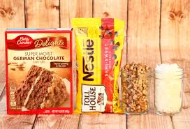 german chocolate cake mix cookies recipe never ending journeys