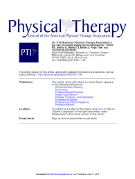 on u201cthe american physical therapy association u0027s top five choosing