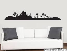 arabian landscape silhouette wall art vinyl stickers stickers arabian landscape silhouette wall art vinyl stickers large 118cm x 22cm