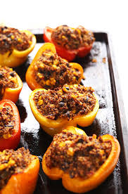 How To Say Thanksgiving In Spanish Quinoa Stuffed Peppers Minimalist Baker Recipes