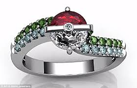 pokeball engagement ring the weirdest engagement rings used when getting on one