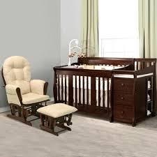 Shermag Convertible Crib Shermag Espresso Glider And Ottoman Combo 2 Nursery Set