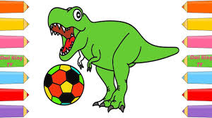 how to draw dinosaur soccer ball coloring pages art color
