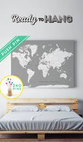 und cus map custom large map canvas gray white personalized gift 240