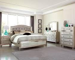 bling game metallic platinum panel bedroom set from coaster 777315