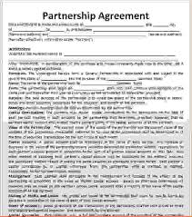 business partnership agreements business partnership agreement