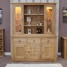 solid oak china cabinet prague solid oak large dresser top oak dressers display cabinets