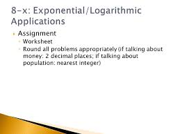 chapter 8 x applications of exponential and logarithmic functions