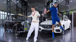 mercedes charity roger federer the tennis chion mercedes