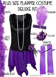 sale plus size roaring 20 u0027s purple u0026 black flapper halloween