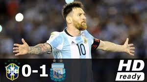 black friday argentina 2017 brazil vs argentina 0 1 goal u0026 extended match highlights