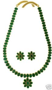 green emerald necklace images 22 inches long full emerald necklace with matching earrings gleam jpg