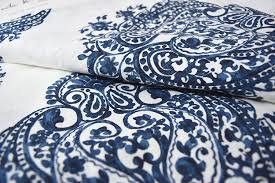 Blue Paisley Curtains Miller Medallion Pair Of Curtains In Blue White Colors