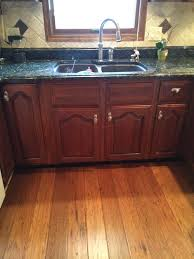 flooring with cherry cabinets