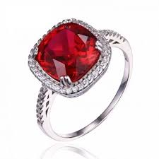 ruby sterling rings images 6ct gemstone pigeon blood ruby wedding ring solid pure 925 jpg