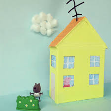 peppa pig u0027s little yellow house on top of the hill peppapig