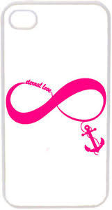 hot pink eternal love infinity symbol with anchor on iphone 4 4s