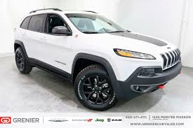 jeep trailhawk used 2017 jeep cherokee trailhawk toit nav cuir full loaded white