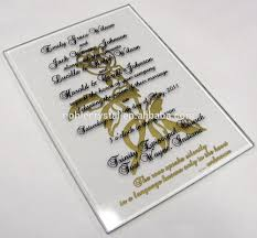 glass wedding invitations glass wedding invitations suppliers and
