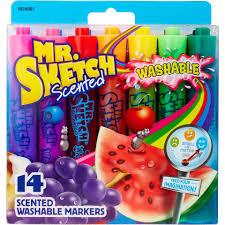 mr sketch scented washable marker set 14 pkg chisel toys