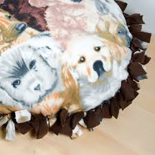 How To Make A Dog Bed How To Make A No Sew Fleece Dog Bed Ofs Maker U0027s Mill