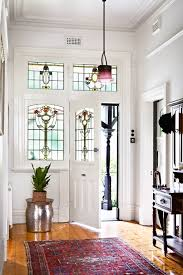 federation homes interiors stained glass windows in the front are a welcome reminder of