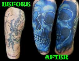 skull cover up by jackie rabbit custom by ja flickr