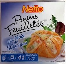 cuisiner st jacques surgel馥s paniers feuilletés aux noix de st jacques surgelés netto 4 100