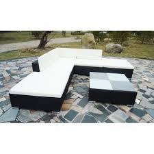 table pour canapé canapé de jardin en résine tressée noir pour jardins plein air a 97