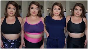 Plus Size Exercise Clothes Plus Size Activewear Haul Try On Youtube