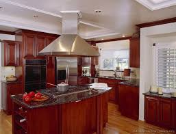 Cherry Kitchen Cabinets Pictures Cherry Cabinets Black Appliances Wood Cherry Kitchen