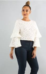 white bell sleeve blouse lechicapparel lace bell sleeve blouse