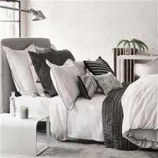 charcoal bedding astor charcoal and dove bedding designers guild