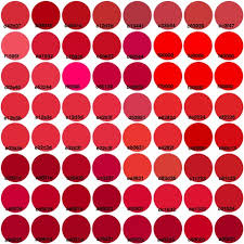 red swatch just red color chart on a swatch fabric victorialasher spoonflower