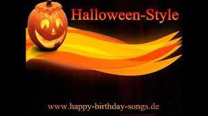 happy birthday songs halloween style youtube