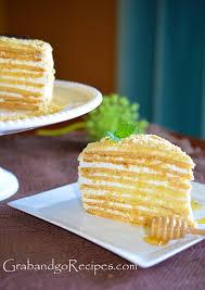 medovik u2013 honey cake iii медовик with cream filling