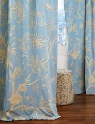 Cotton Drapery Panels Chelsea Crewel Curtain Panels And Drapes Hand Embroidered Cotton