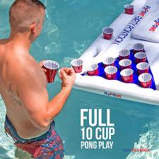 bud light draught ball cold box amazon com play platoon h2pong inflatable beer pong table with