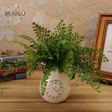 aliexpress com buy 1pc fresh green artificial plant fern flower