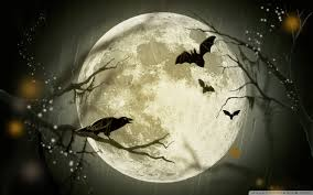 halloween moon hd desktop wallpaper widescreen high definition