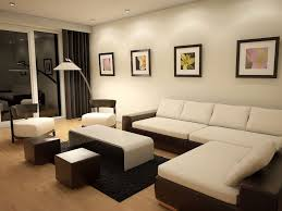 elegant white cushion with black curtain and white wall paint