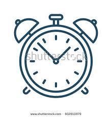 alarm clock vector icon meaning stock vector 602810879