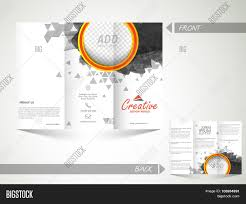 front and inner page presentation of abstract trifold brochure